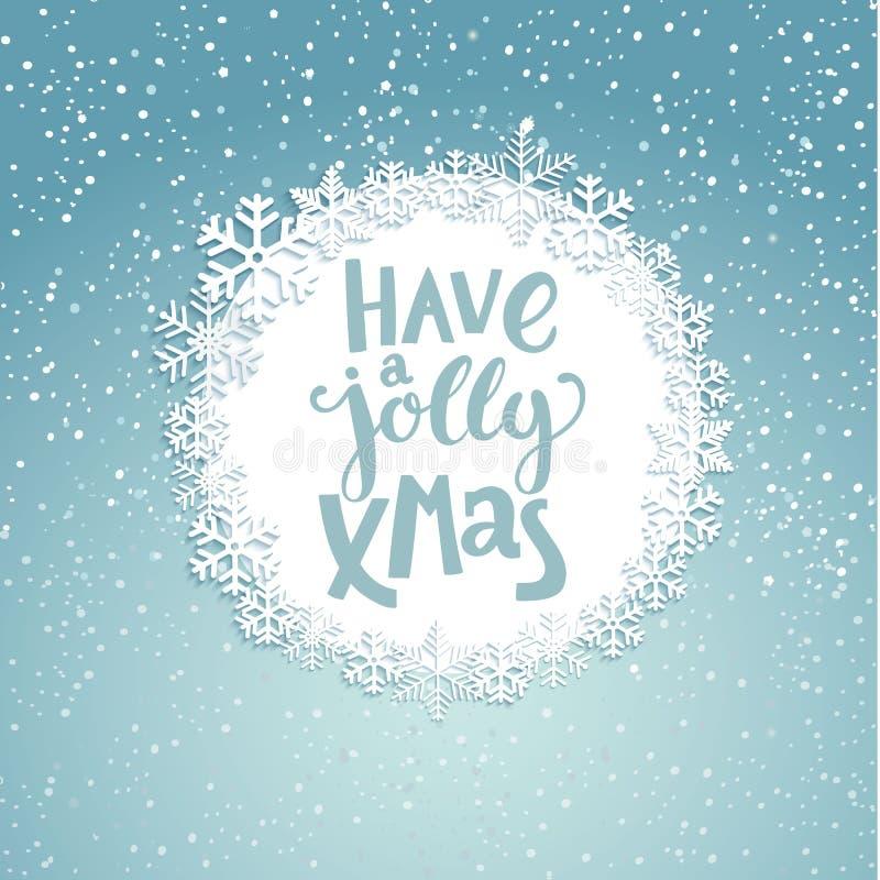 Jolly Christmas Greeting Card stock abbildung