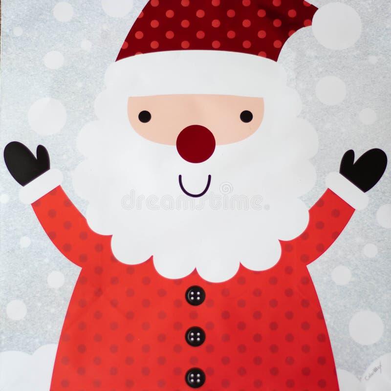 Jolly Happy Santa Claus de sorriso ilustração royalty free