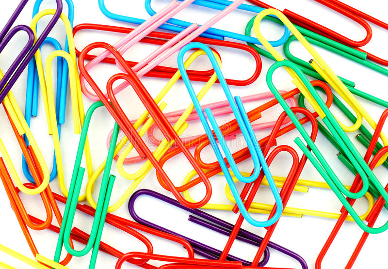 Jolly paperclips royalty free stock photos