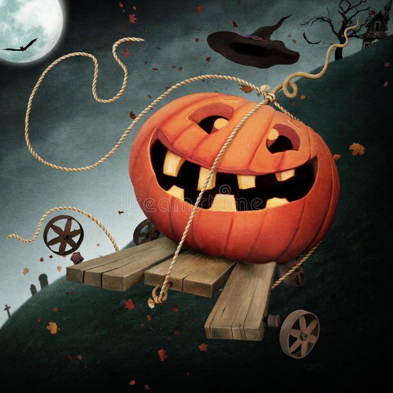 Jolly pumpkin stock photos