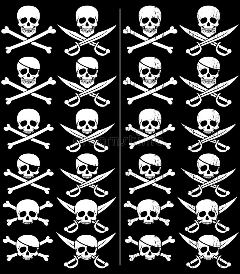 jolly roger vektor illustrationer
