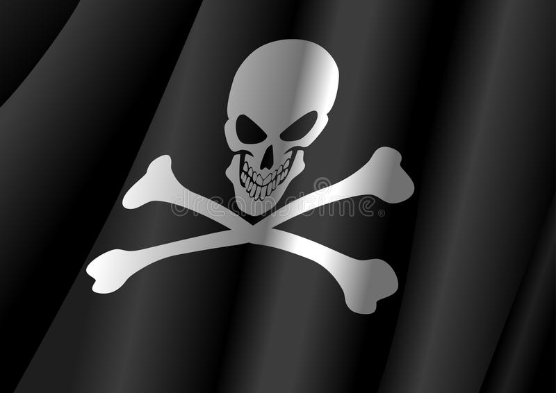 Download Jolly Roger stock vector. Image of skull, death, iconic - 25885985