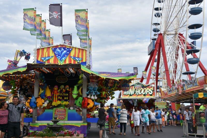 Jolly Roger Amusement Park dans la ville d'océan, le Maryland photographie stock