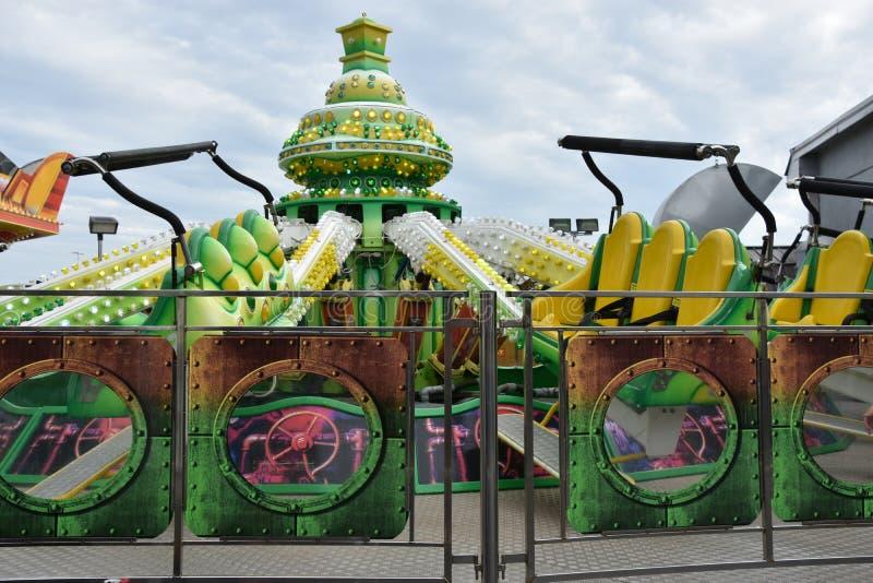 Jolly Roger Amusement Park dans la ville d'océan, le Maryland images libres de droits