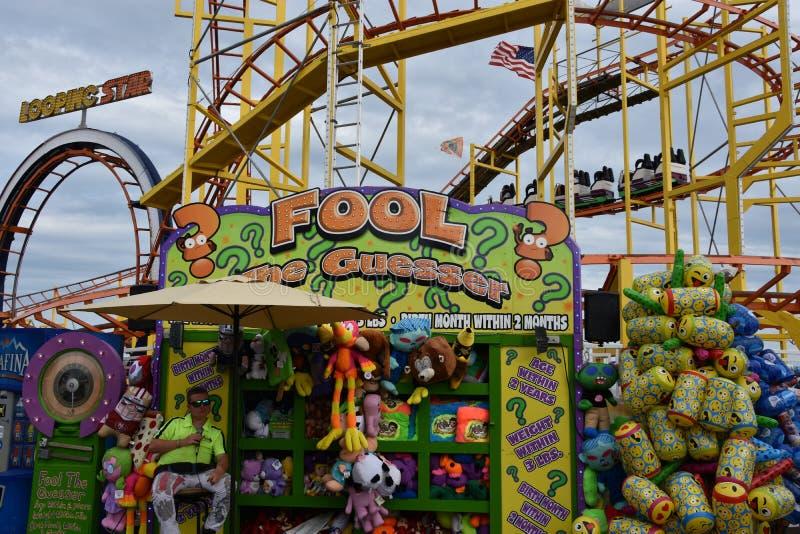Jolly Roger Amusement Park dans la ville d'océan, le Maryland photos stock
