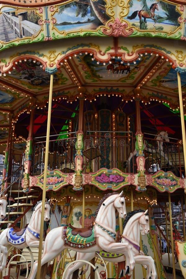Jolly Roger Amusement Park dans la ville d'océan, le Maryland photo stock