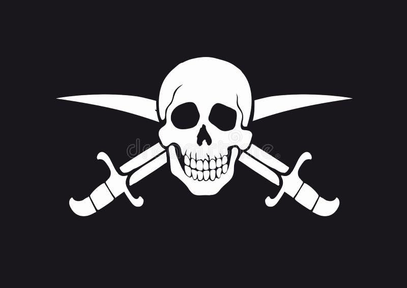 Jolly Roger Black vector illustration