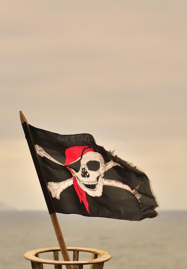 Jolly roger flagga royaltyfria foton