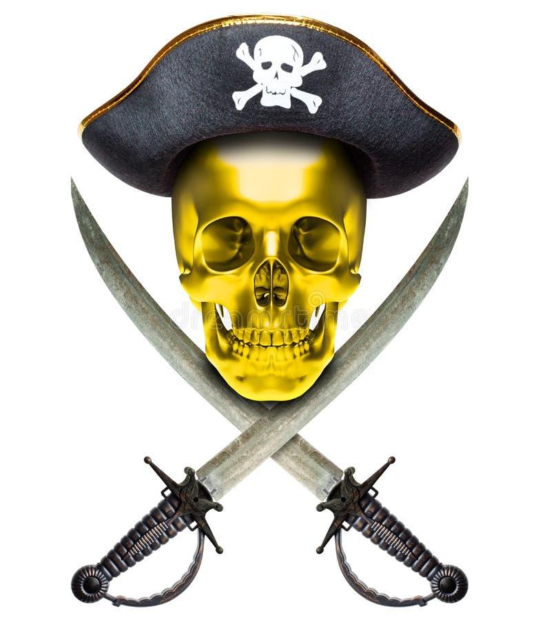 Jolly Roger-goud royalty-vrije stock afbeeldingen