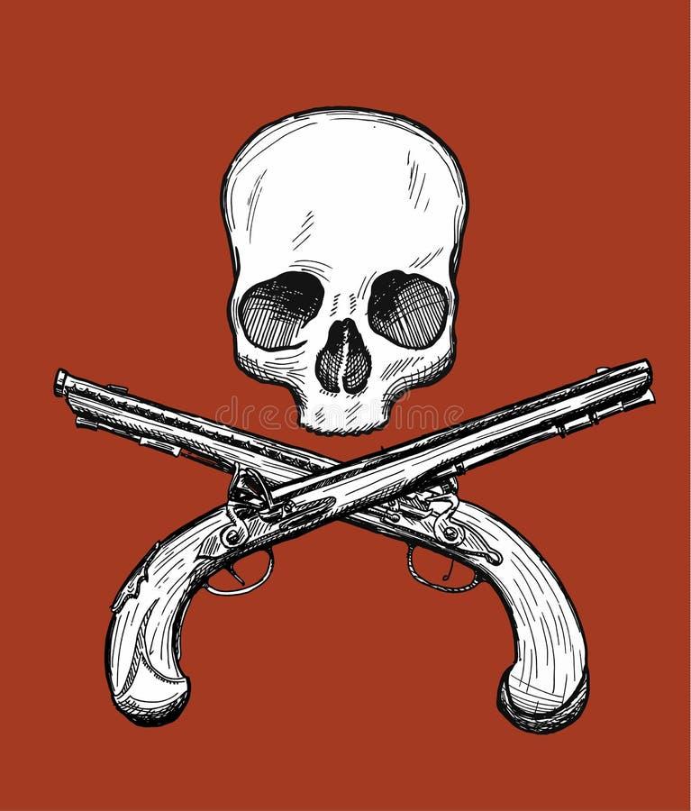 Jolly Roger royalty free illustration
