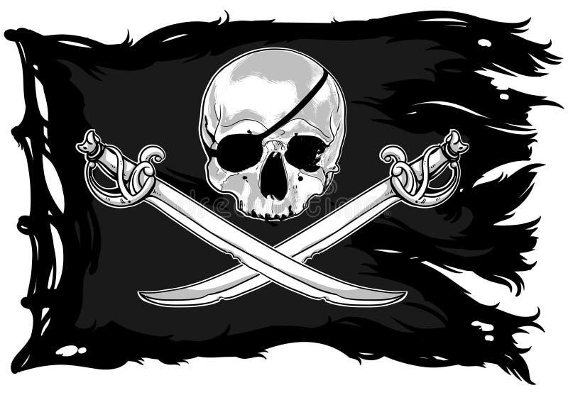 Download Jolly Roger stock vector. Illustration of captain, skull - 41889164