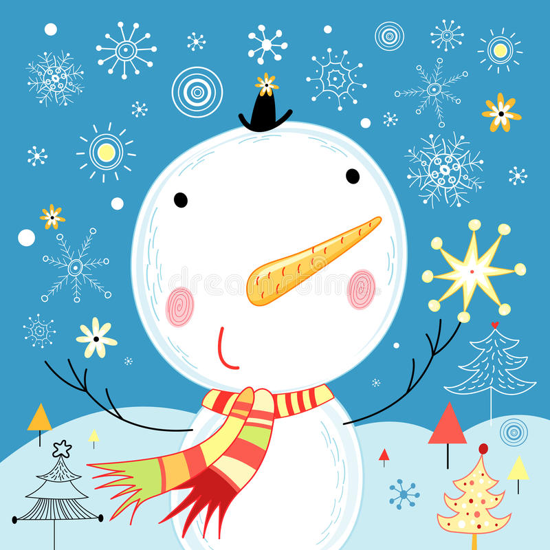 Free Jolly Snowman Stock Photo - 21973570