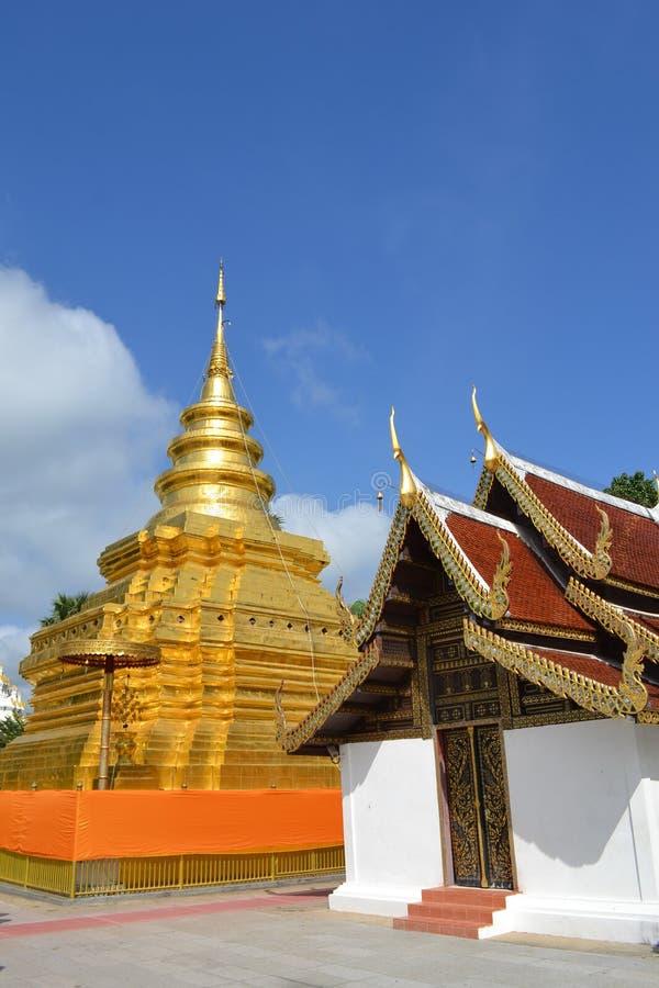Jom läderremtempel, Thailand arkivfoto