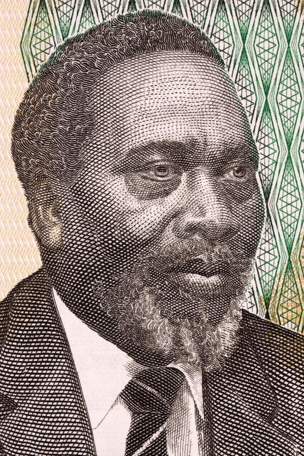 Jomo Kenyatta portret fotografia stock