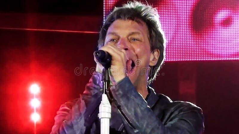 Jon Bon Jovi 2013 royaltyfri bild