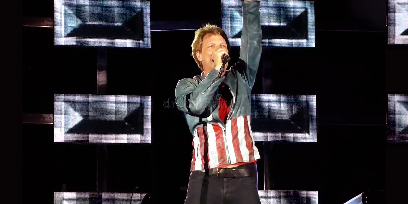 Jon Bon Jovi 2013 arkivbilder