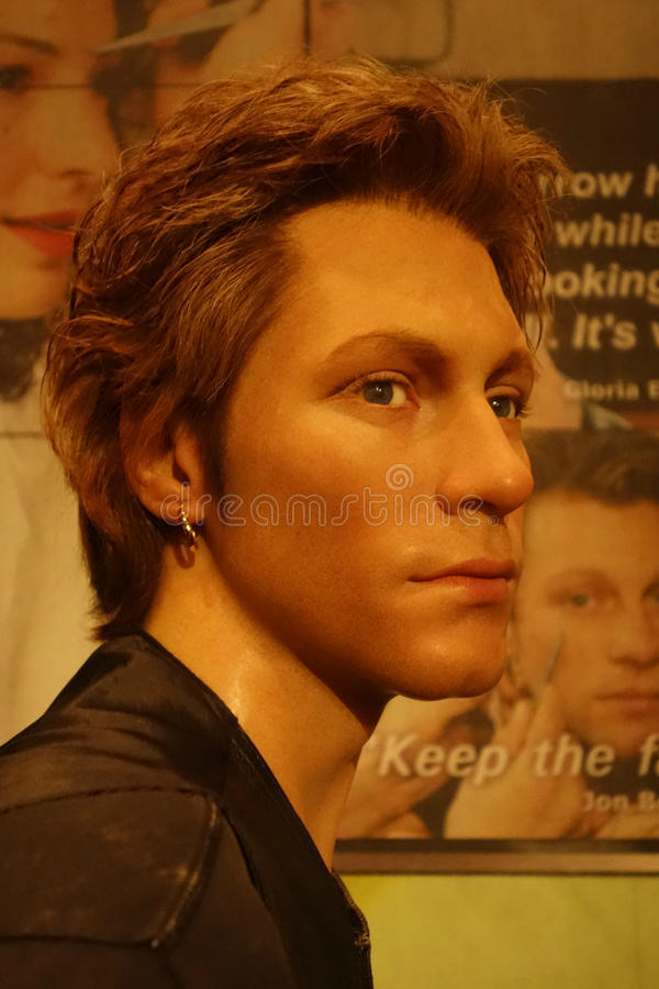Jon Bon Jovi Wax Figure immagini stock