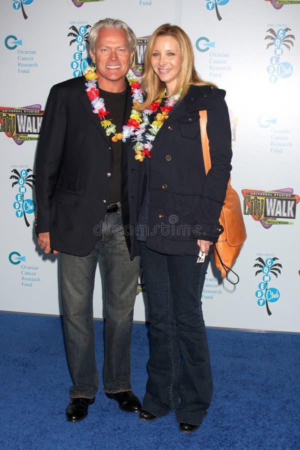 Jon Lovitz, Lisa Kudrow stockbild