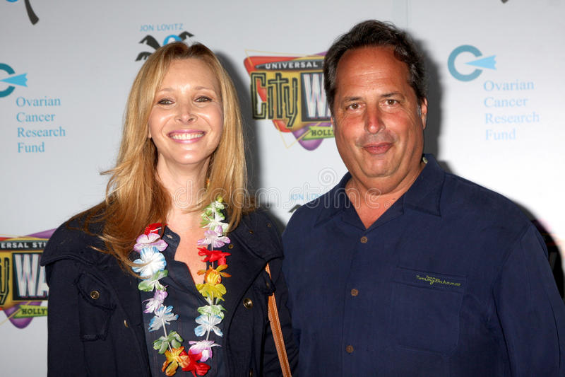 Jon Lovitz, Lisa Kudrow lizenzfreie stockfotografie