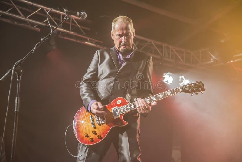 Jon Nichols joue la guitare photo libre de droits