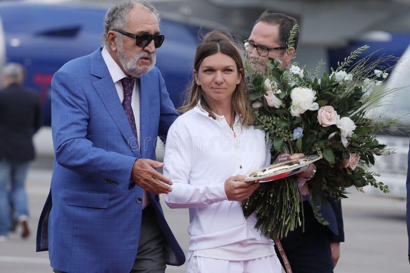 Jon Tiriac Halep i Simona obraz royalty free