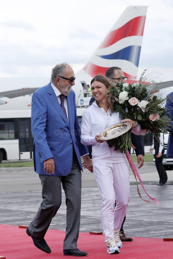 Jon Tiriac Halep i Simona obrazy royalty free