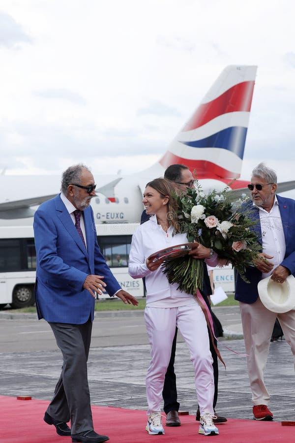 Jon Tiriac Halep i Simona zdjęcia royalty free