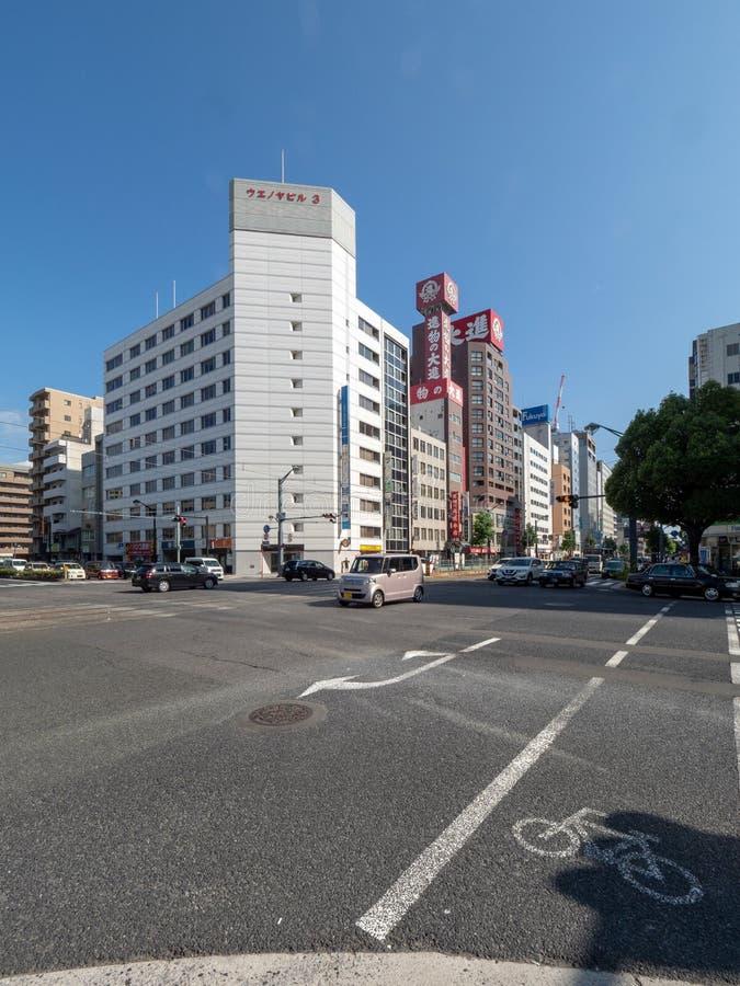 Jonan-dori, Stra?e, Hiroshima, Japan lizenzfreie stockfotografie