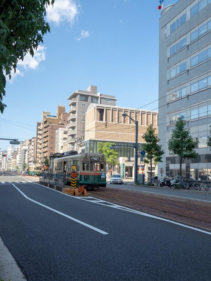 Jonan-Dori, straat, Hiroshima, Japan stock foto