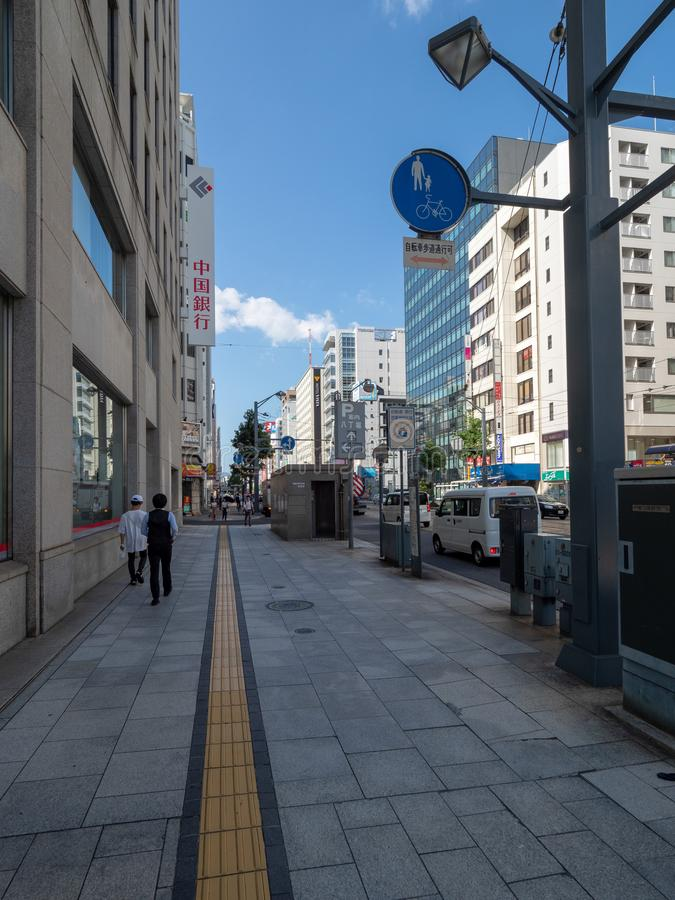 Jonan-dori, ulica, Hiroszima, Japonia obrazy stock