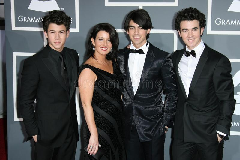 The Jonas Brothers stock image