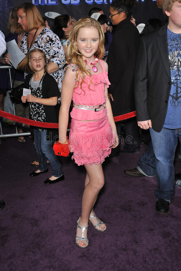 Jonas Brothers, Kathryn Newton. Kathryn Newton at the world premiere of Jonas Brothers: The 3D Concert Experience at the El Capitan Theatre, Hollywood. February royalty free stock photos