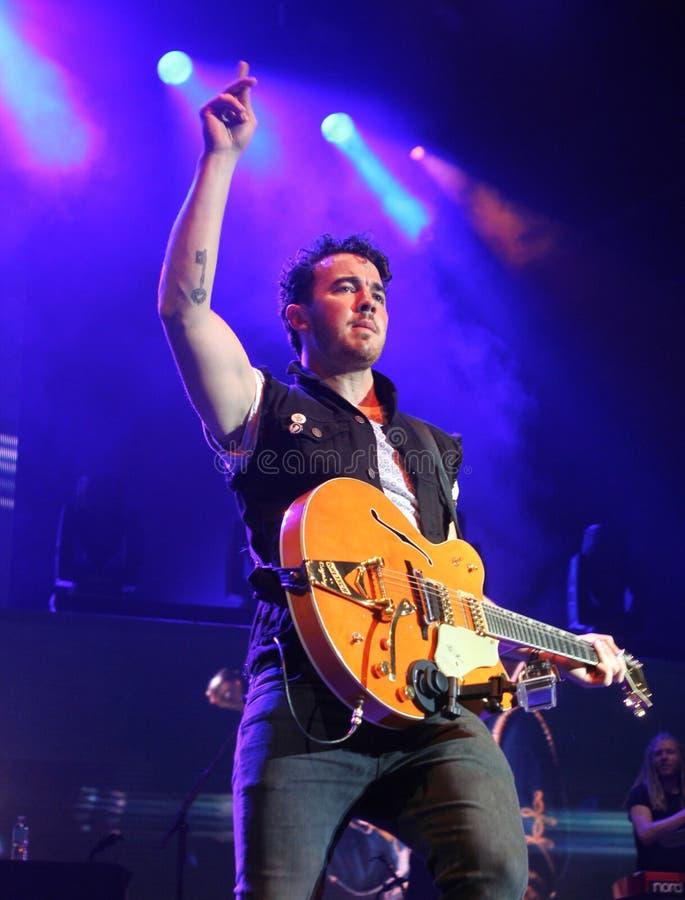 Jonas Brothers Perform de concert photographie stock libre de droits