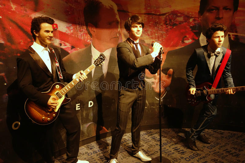 Jonas Brothers Wax Figures image libre de droits