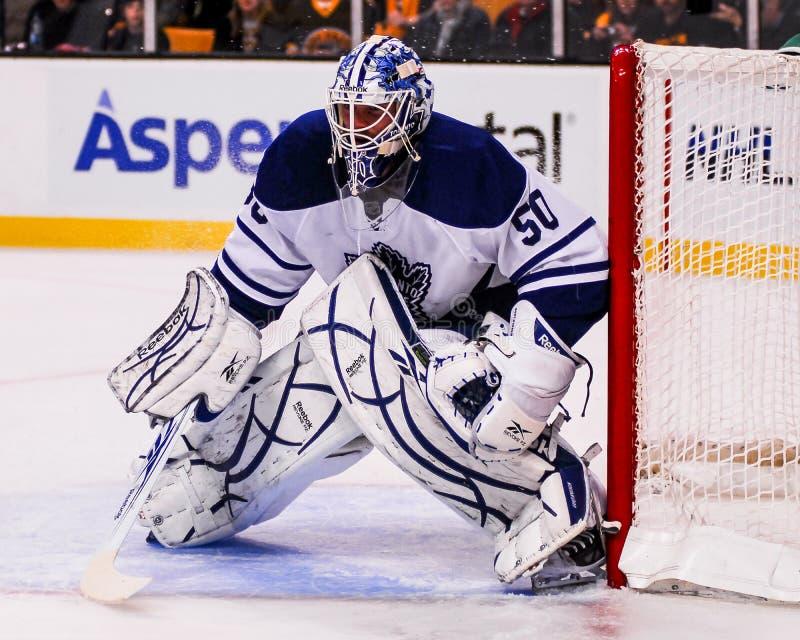 Jonas Gustavsson Toronto Maple Leafs royaltyfria foton