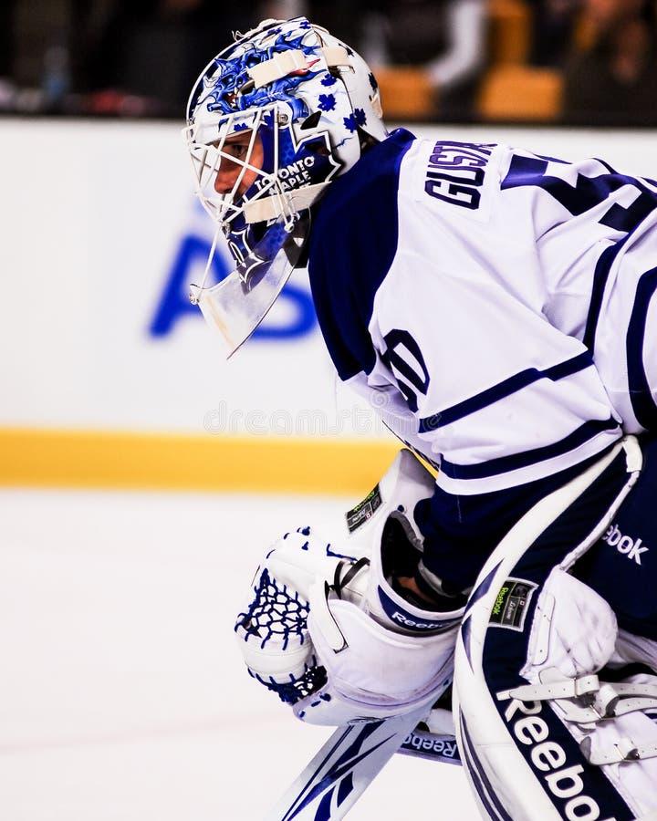 Jonas Gustavsson Toronto Maple Leafs royaltyfri bild