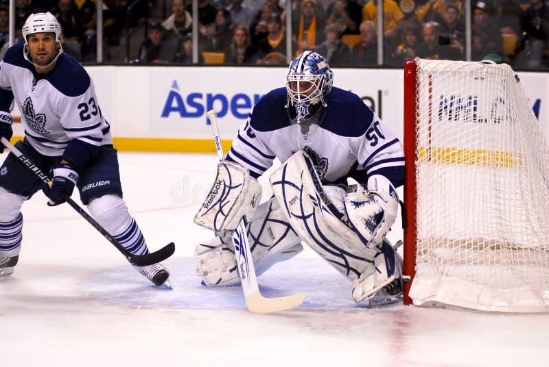 Jonas Gustovsson Toronto Mapleleafs. Toronto Mapleleafs goalie Jonas Gustovsson royalty free stock photos