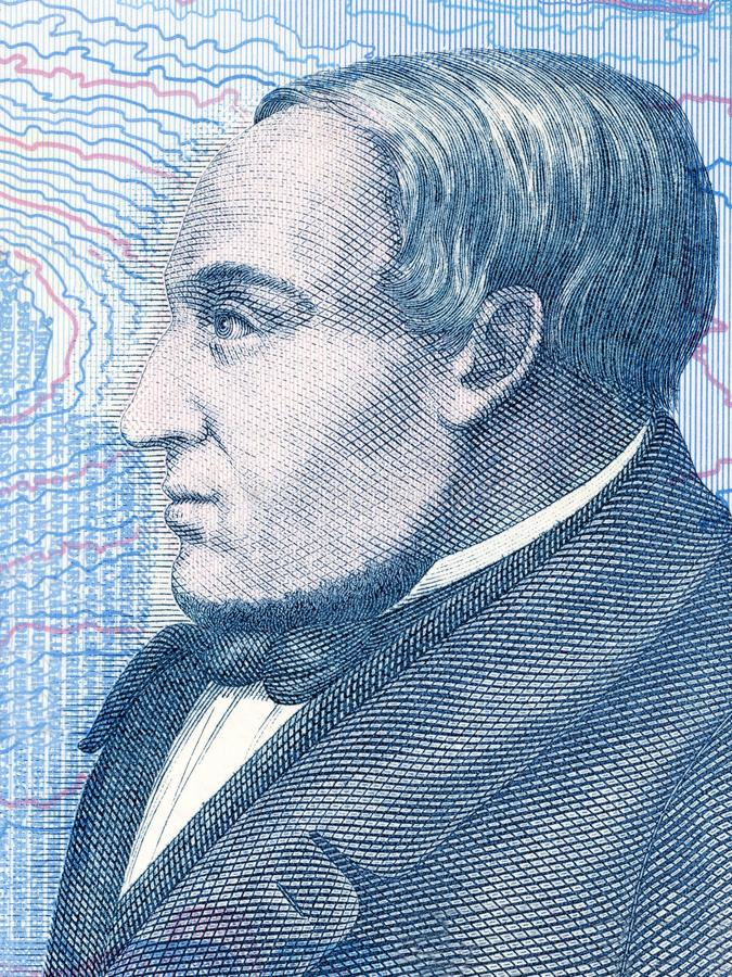 Jonas Hallgrimsson stående arkivfoto
