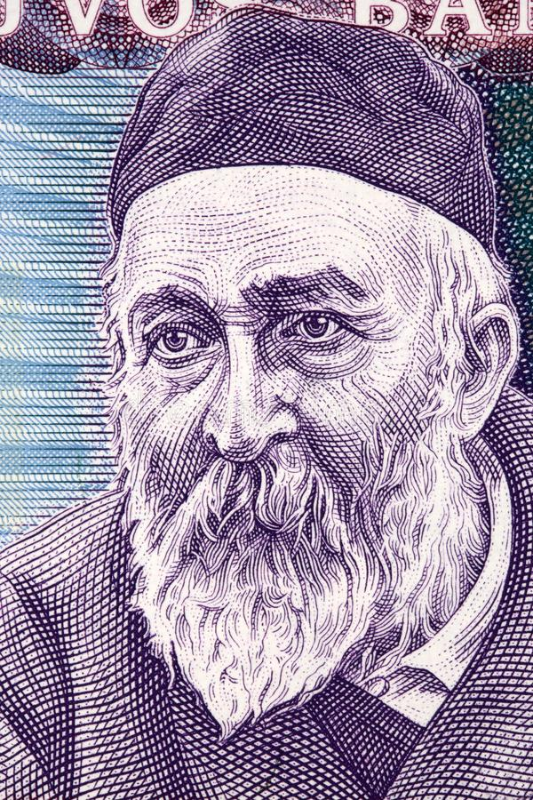 Jonas Jablonskis stående royaltyfri bild