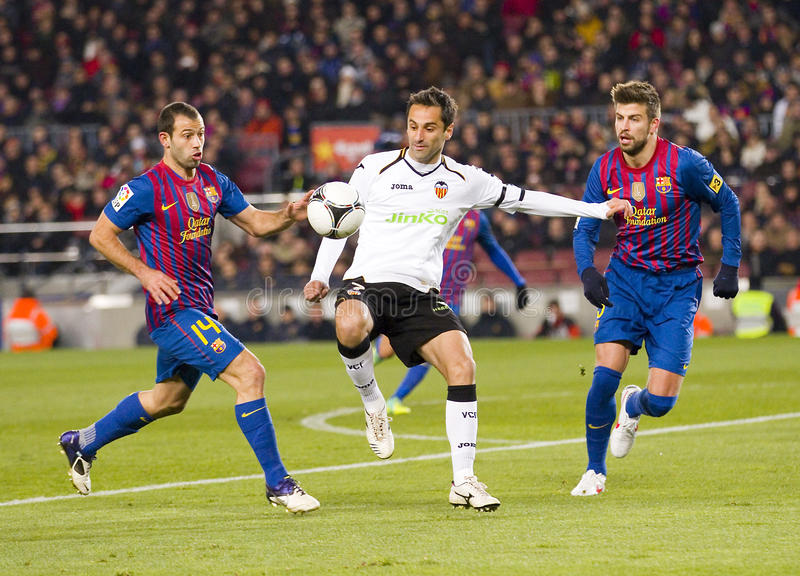Jonas Oliveira av Valencia CF royaltyfria bilder