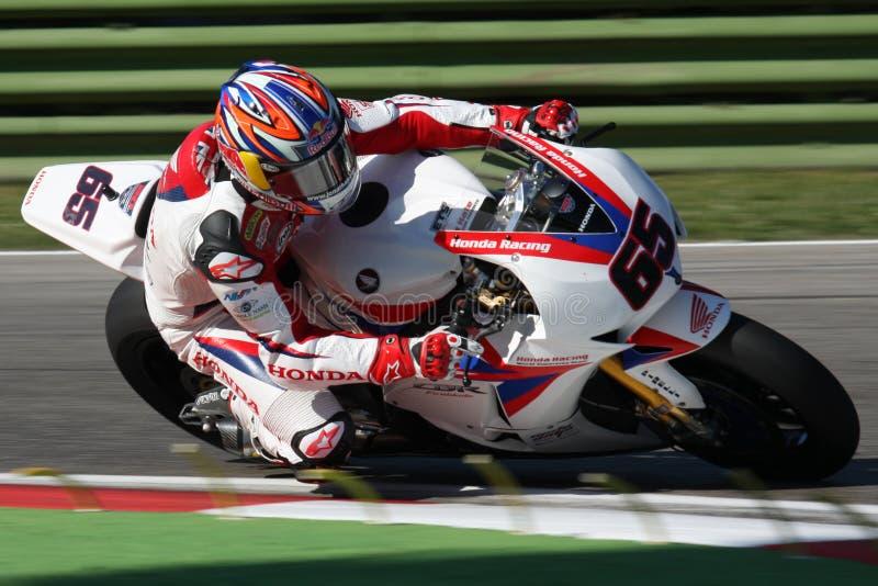 Jonatán Rea - Honda CBR1000RR - mundo de Honda estupendo foto de archivo