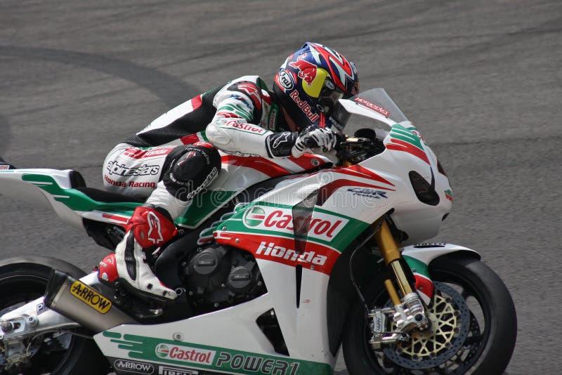 Jonatán Rea - Honda CBR1000RR - mundo de Honda estupendo foto de archivo libre de regalías