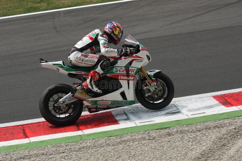Jonatán Rea - Honda CBR1000RR - mundo de Honda estupendo fotos de archivo libres de regalías