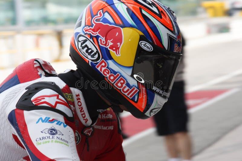 Jonatán Rea - Honda CBR1000RR - mundo de Honda estupendo imágenes de archivo libres de regalías