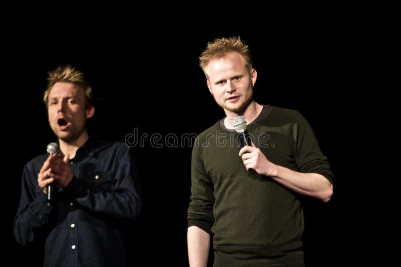 Jonatan Spang et Mikael Wulff images stock
