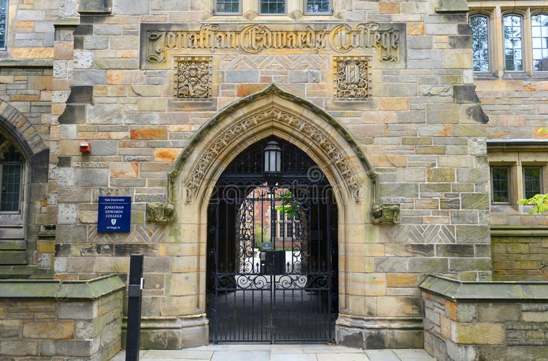 Jonathan Edwards College Yale University, CT, USA arkivbilder