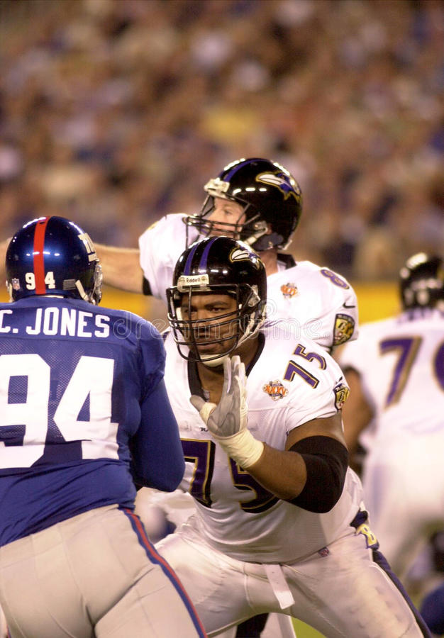 Jonathan Ogden Super Bowl XXXV arkivbild