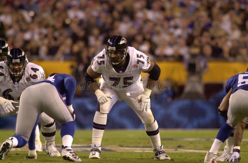 Jonathan Ogden Super Bowl XXXV royaltyfri foto