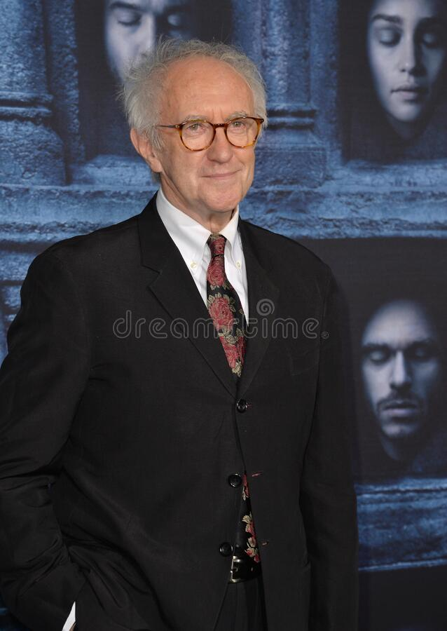 Jonathan Pryce. LOS ANGELES, CA. April 10, 2016: Actor Jonathan Pryce at the season 6 premiere of Game of Thrones at the TCL Chinese Theatre, Hollywood royalty free stock image
