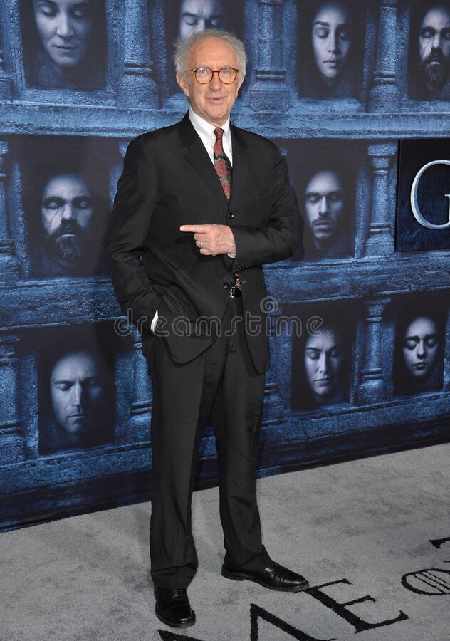 Jonathan Pryce. LOS ANGELES, CA. April 10, 2016: Actor Jonathan Pryce at the season 6 premiere of Game of Thrones at the TCL Chinese Theatre, Hollywood stock photography